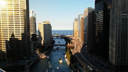 Free stock photo of chicago, chicago river, lake michigan