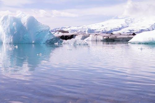 คลังภาพถ่ายฟรี ของ กลางวัน, การสะท้อน, ทะเล, ธารน้ำแข็ง
