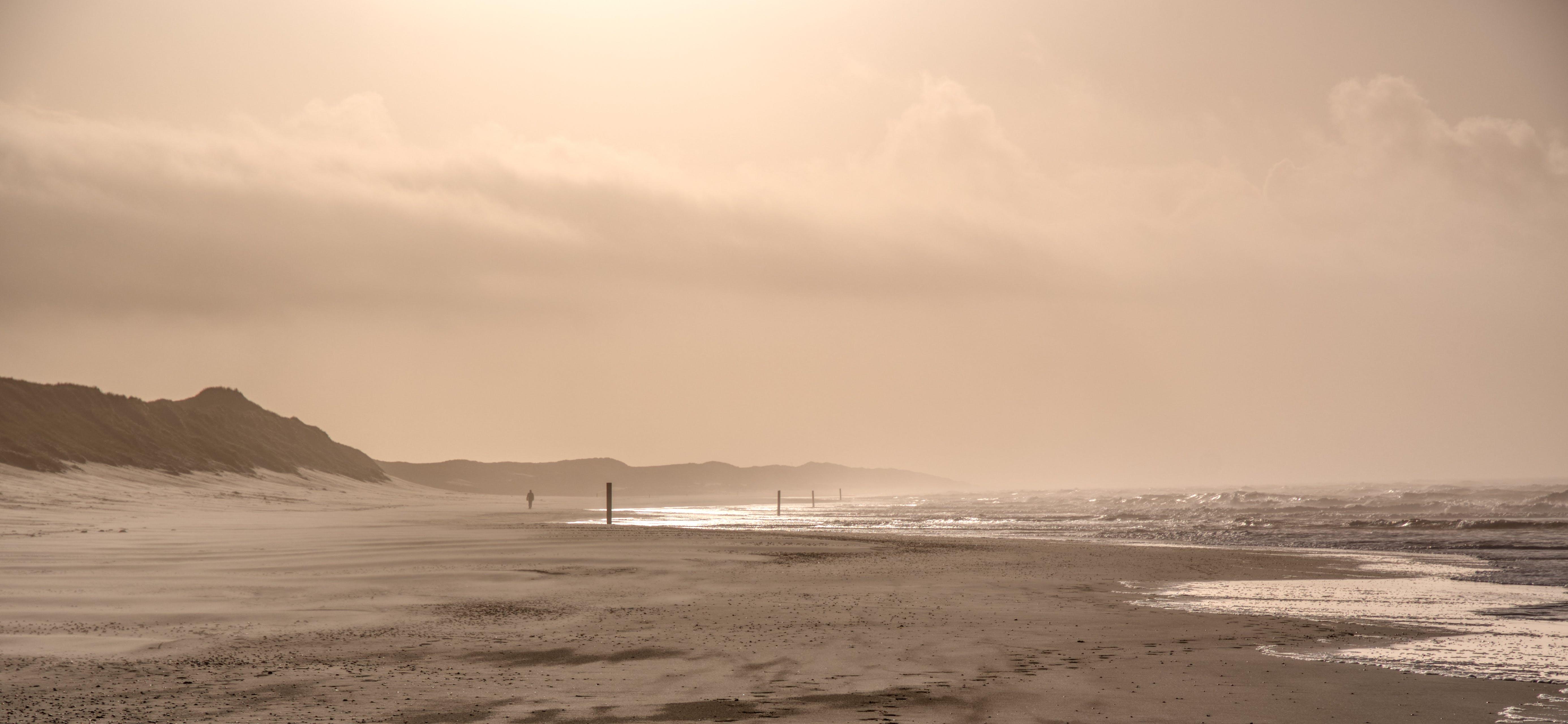 Free stock photo of dunes, landscape, sand dunes, sea