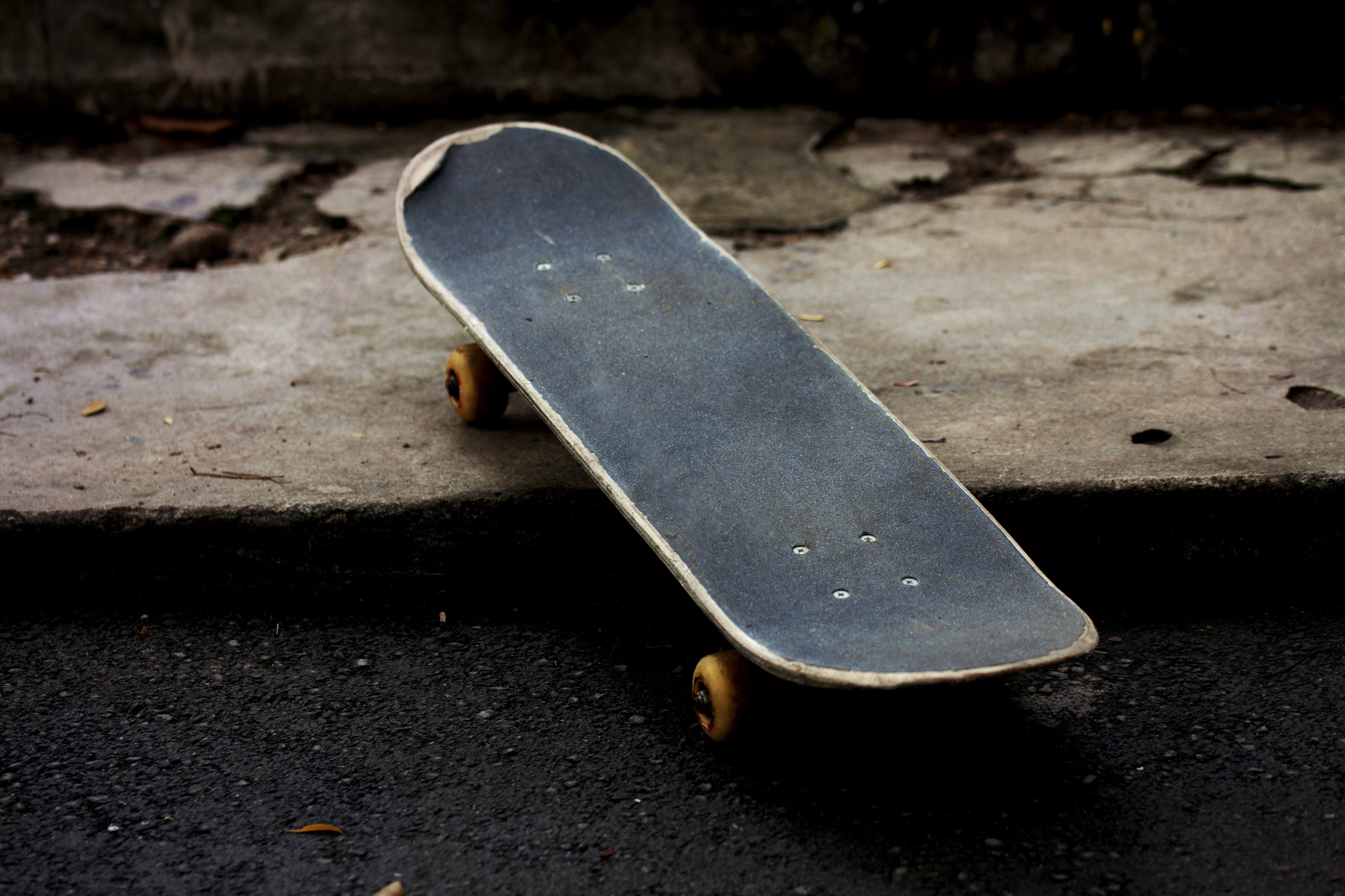 Gray and Black Skateboard