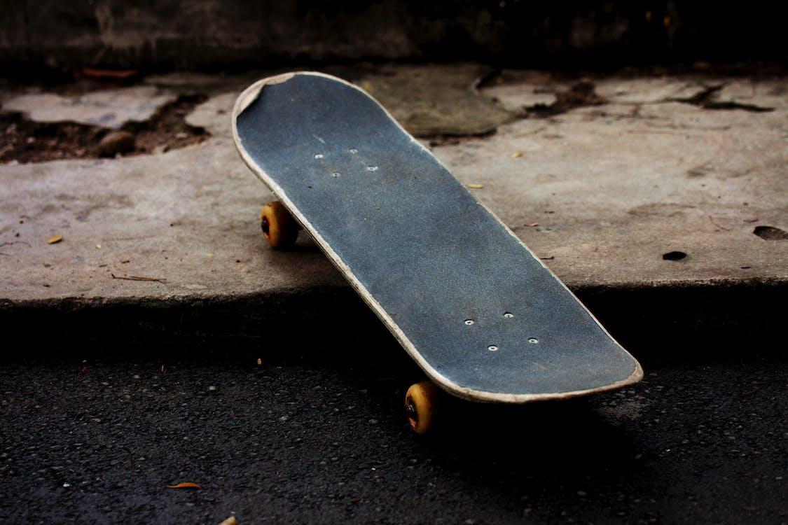 Gray and Black Skateboard