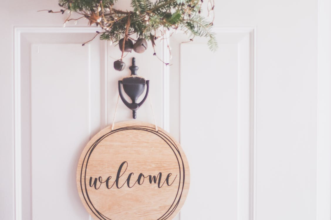 Brown Wooden Welcome Wall Decor