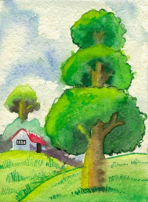 Free stock photo of artwork, blue, dark green, green