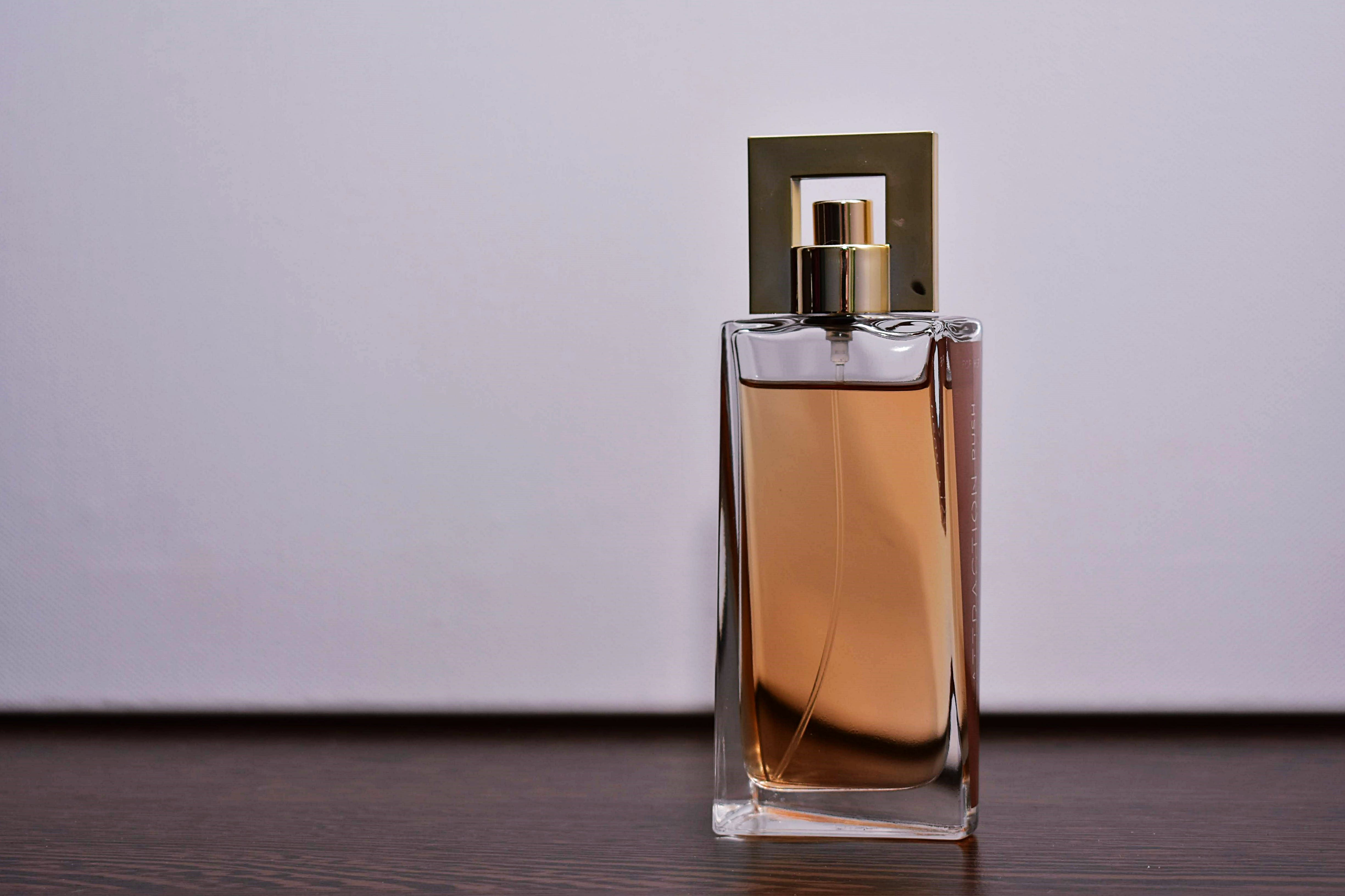 Close-Up Photo of Perfume Bottle