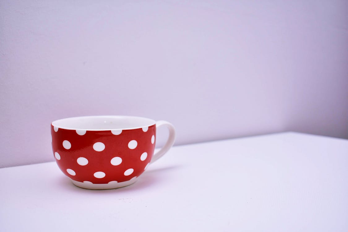 dotted mug