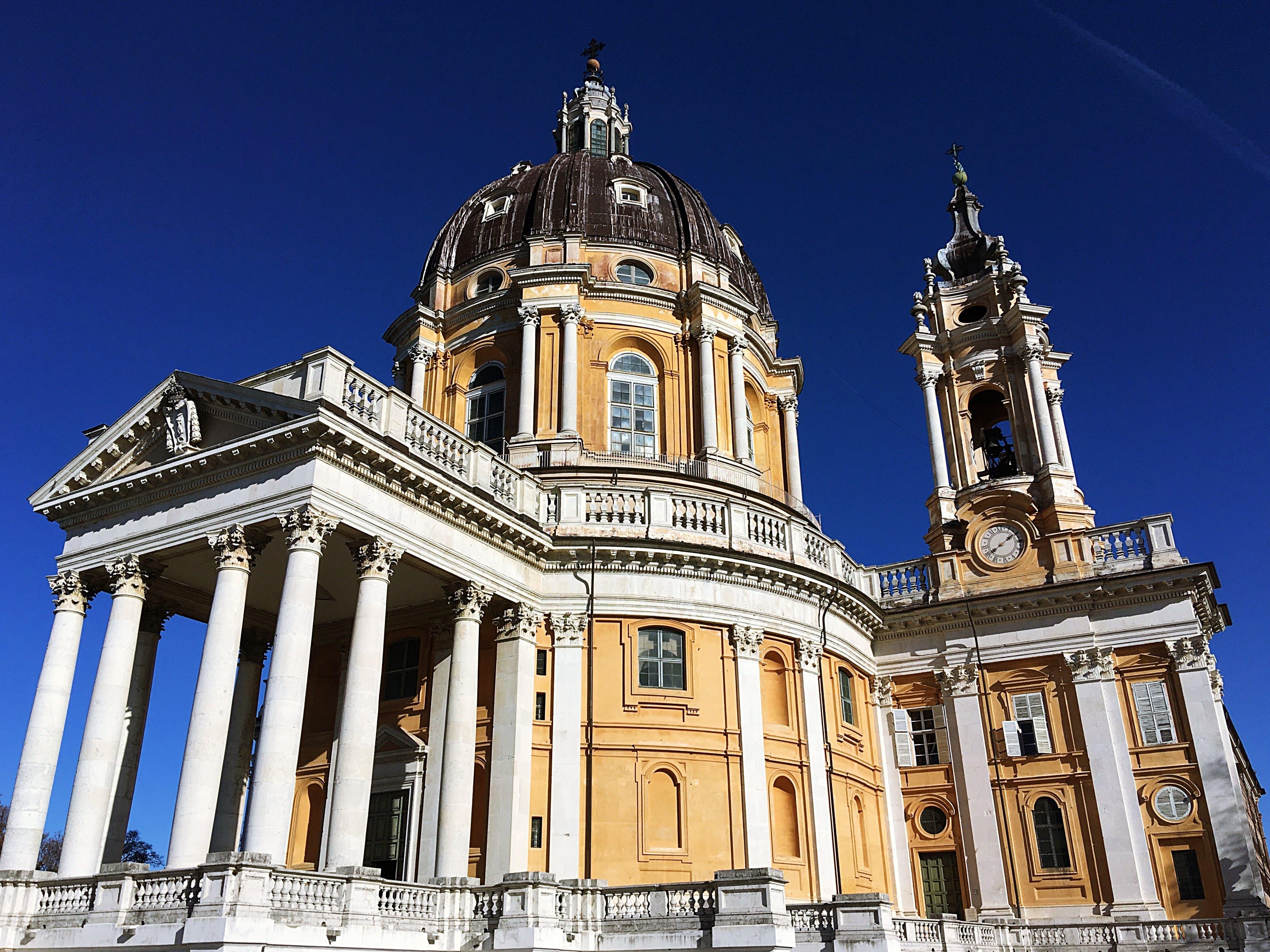 Kostenloses Stock Foto zu architektur, barock, basilika von superga, fassade