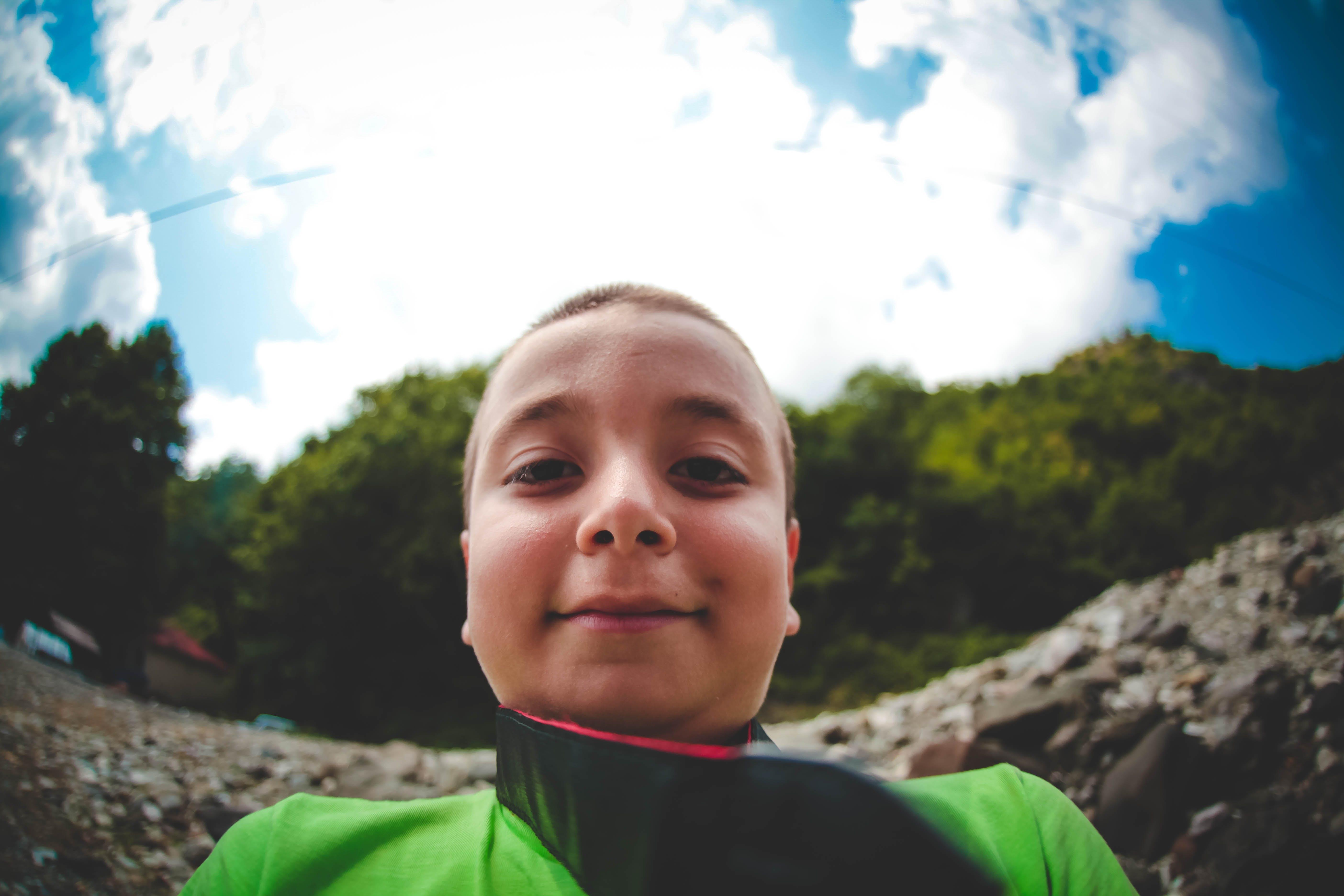 Free stock photo of chil, child, crazy selfie, selfie