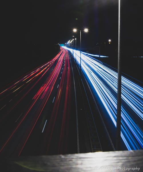 Free stock photo of car lights, cars, exposure