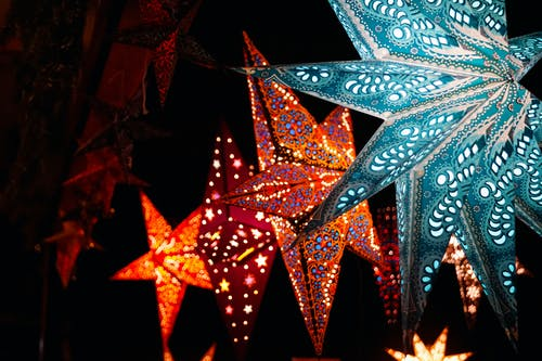 Lighted Christmas Stars