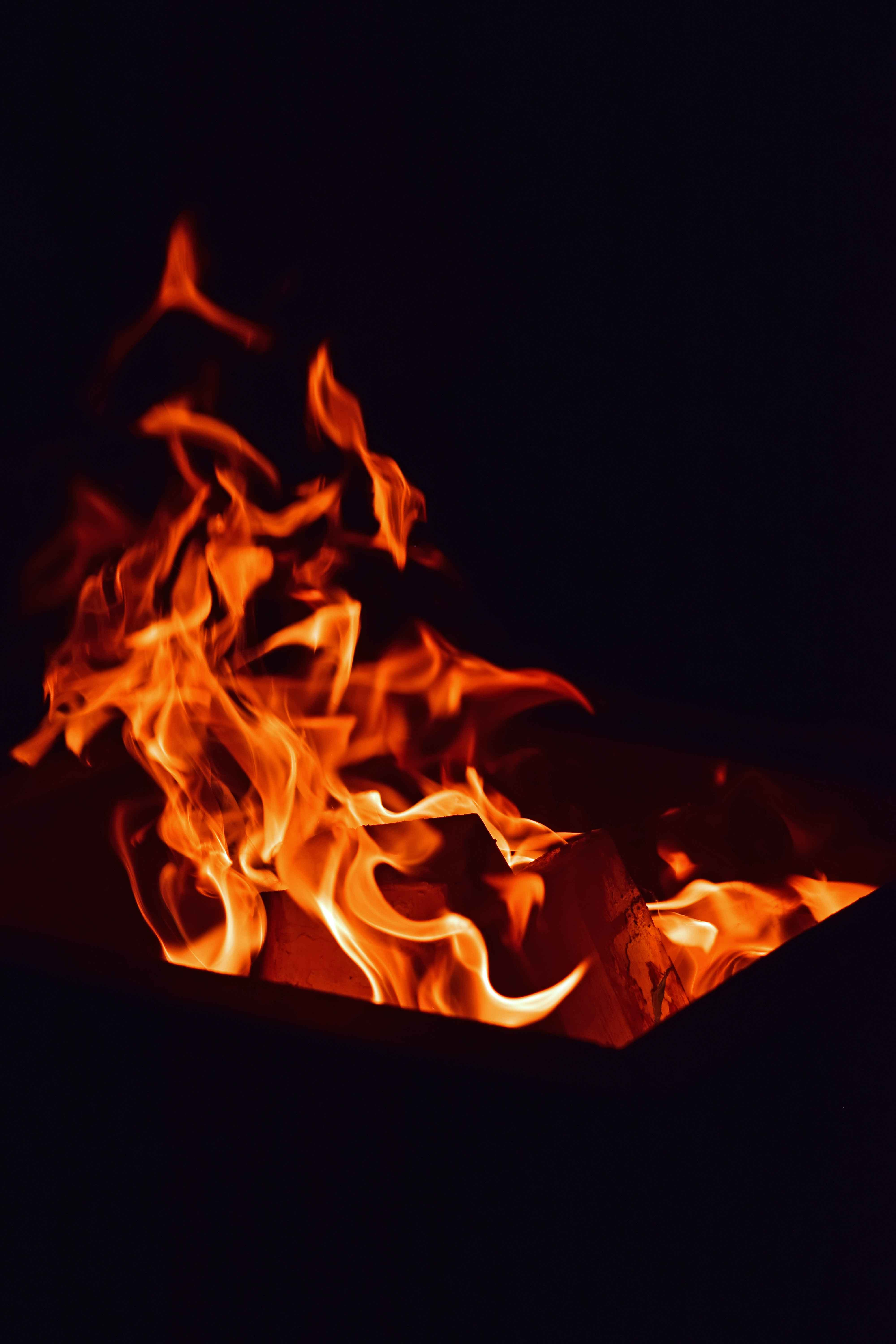 Free stock photo of fire pit, wood fire