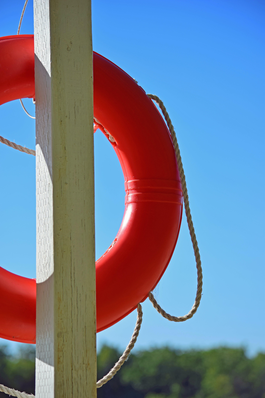 Free stock photo of life preserver, lifebuoy, lifesaver, orange