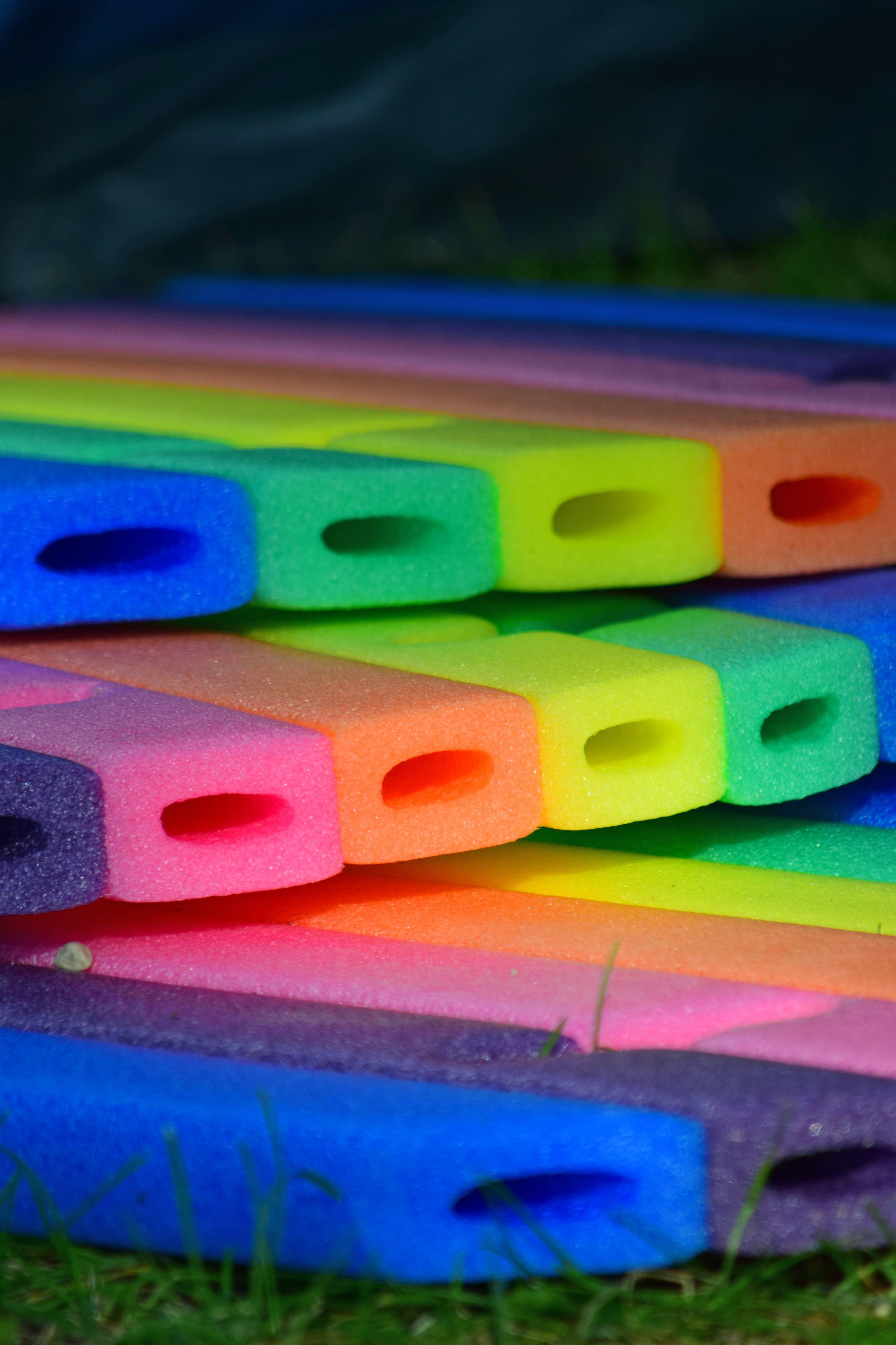 Free stock photo of foam, rainbow colors