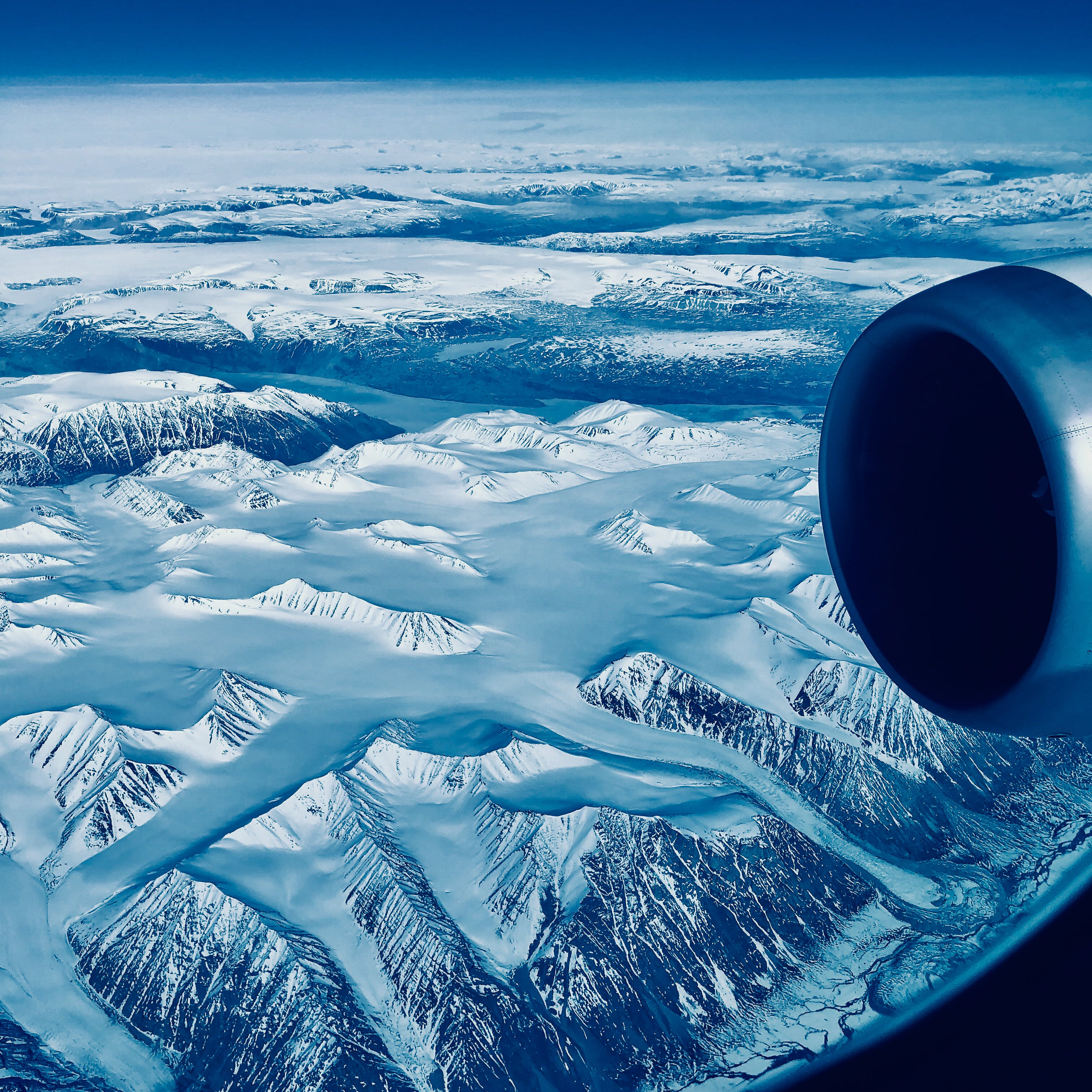 Aerial Photo of White Snow-covered Mountains