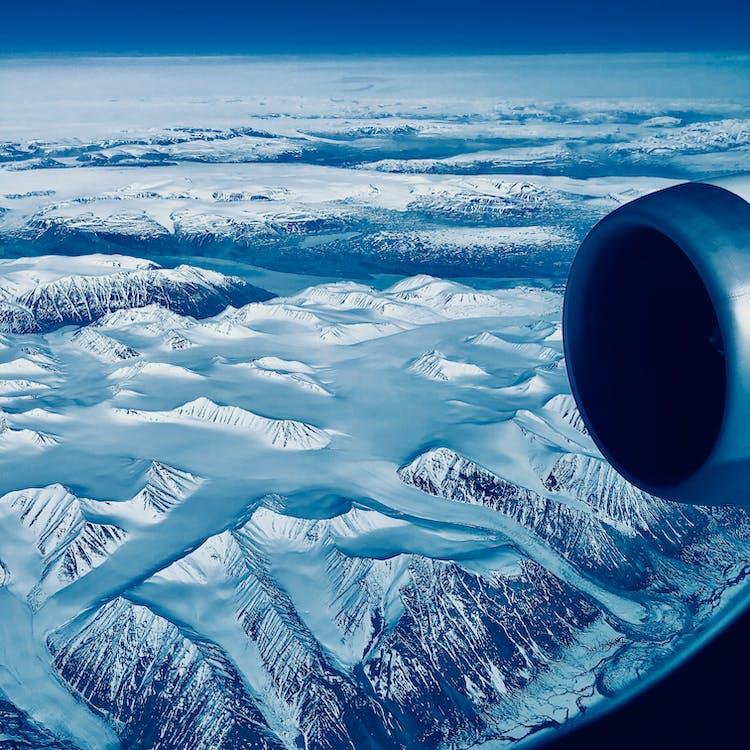 hory, krajina, led
