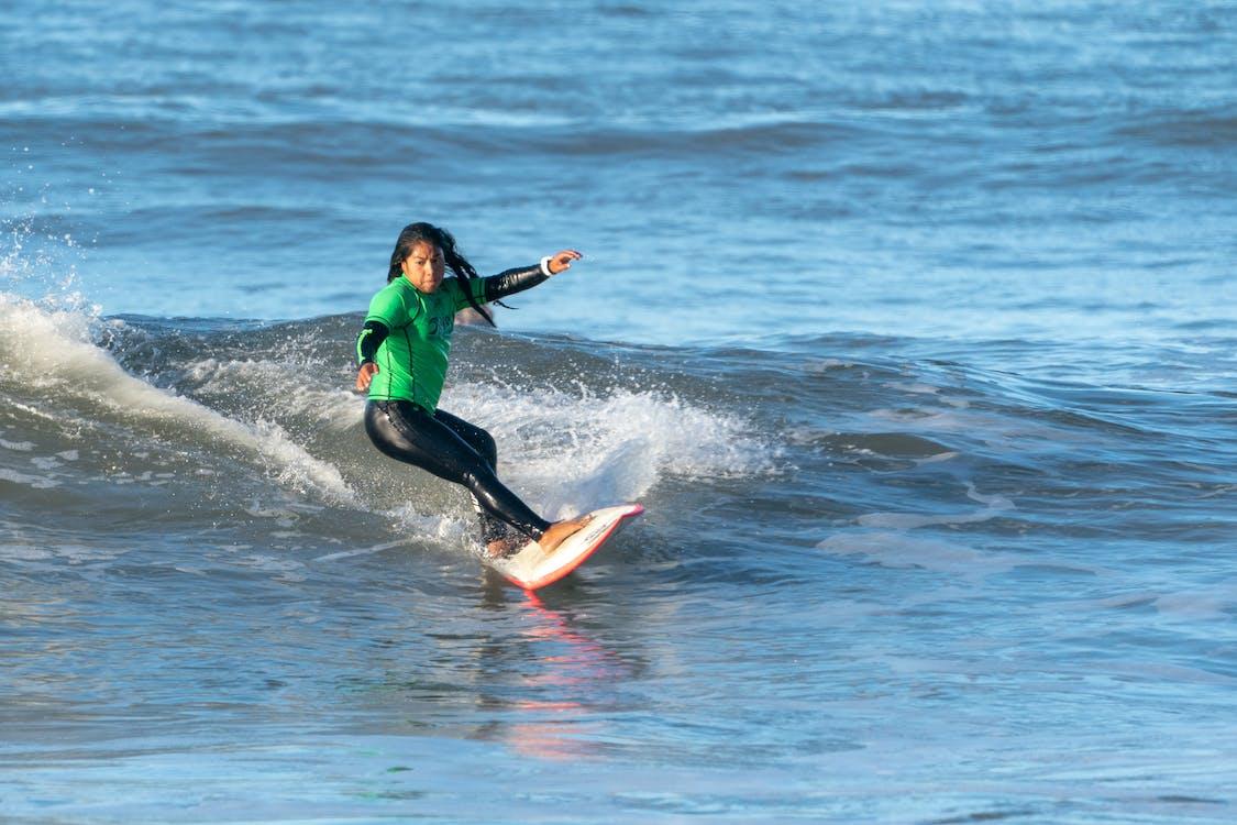 atlet, bølge, fritid