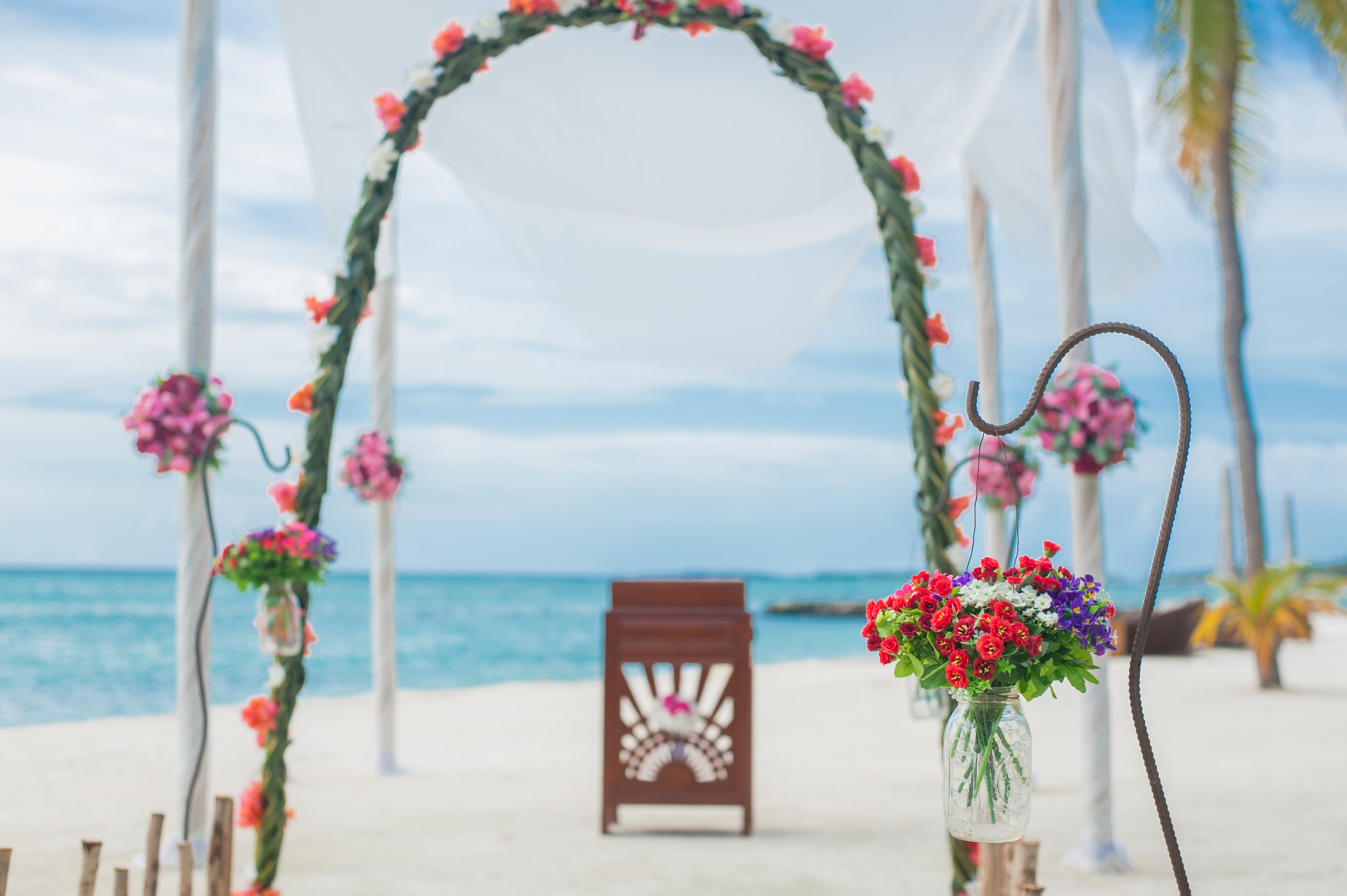 Free stock photo of beach, beach wedding, daylight, flowers