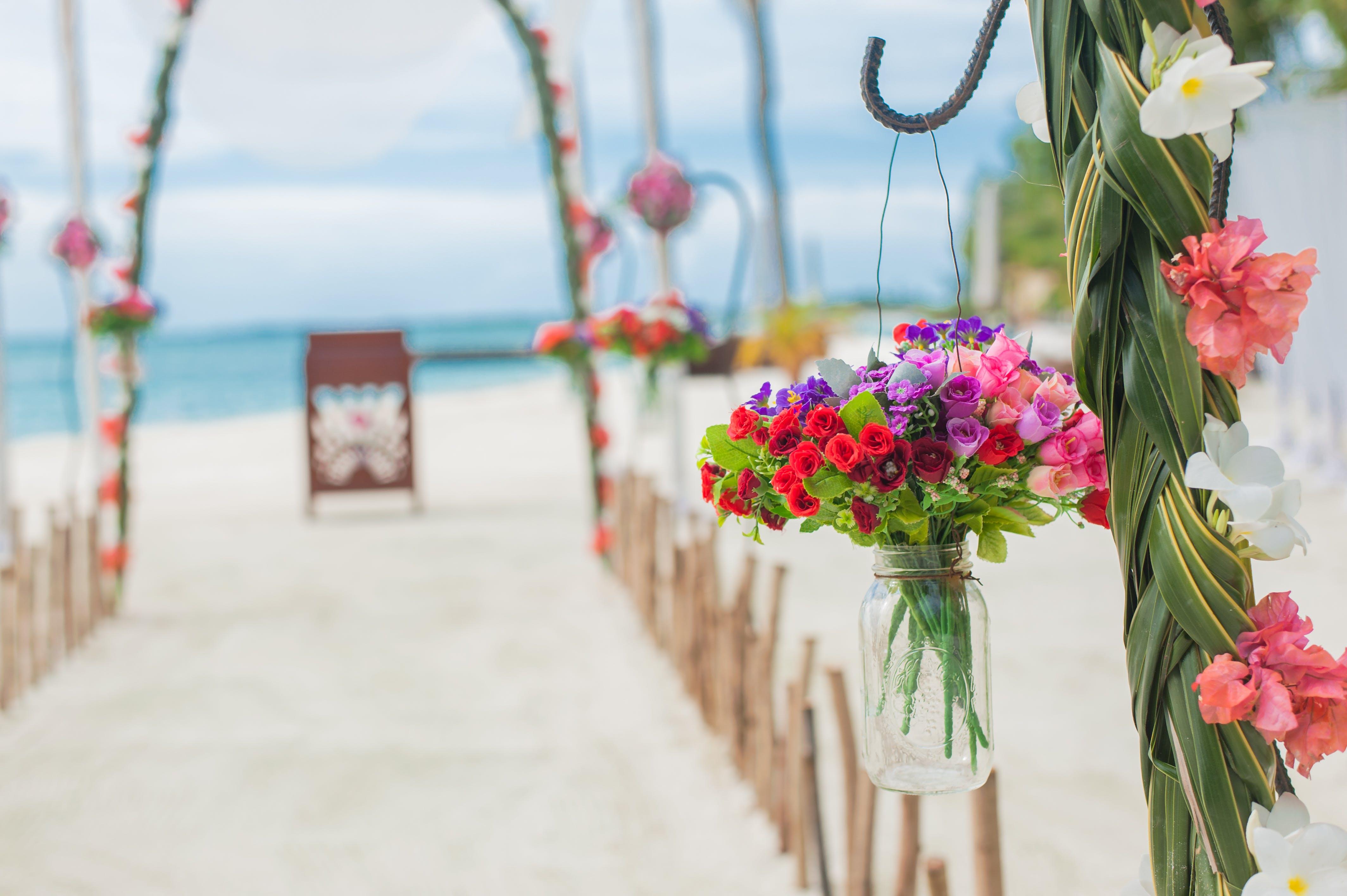 Free stock photo of beach wedding, florist, flowers, wedding