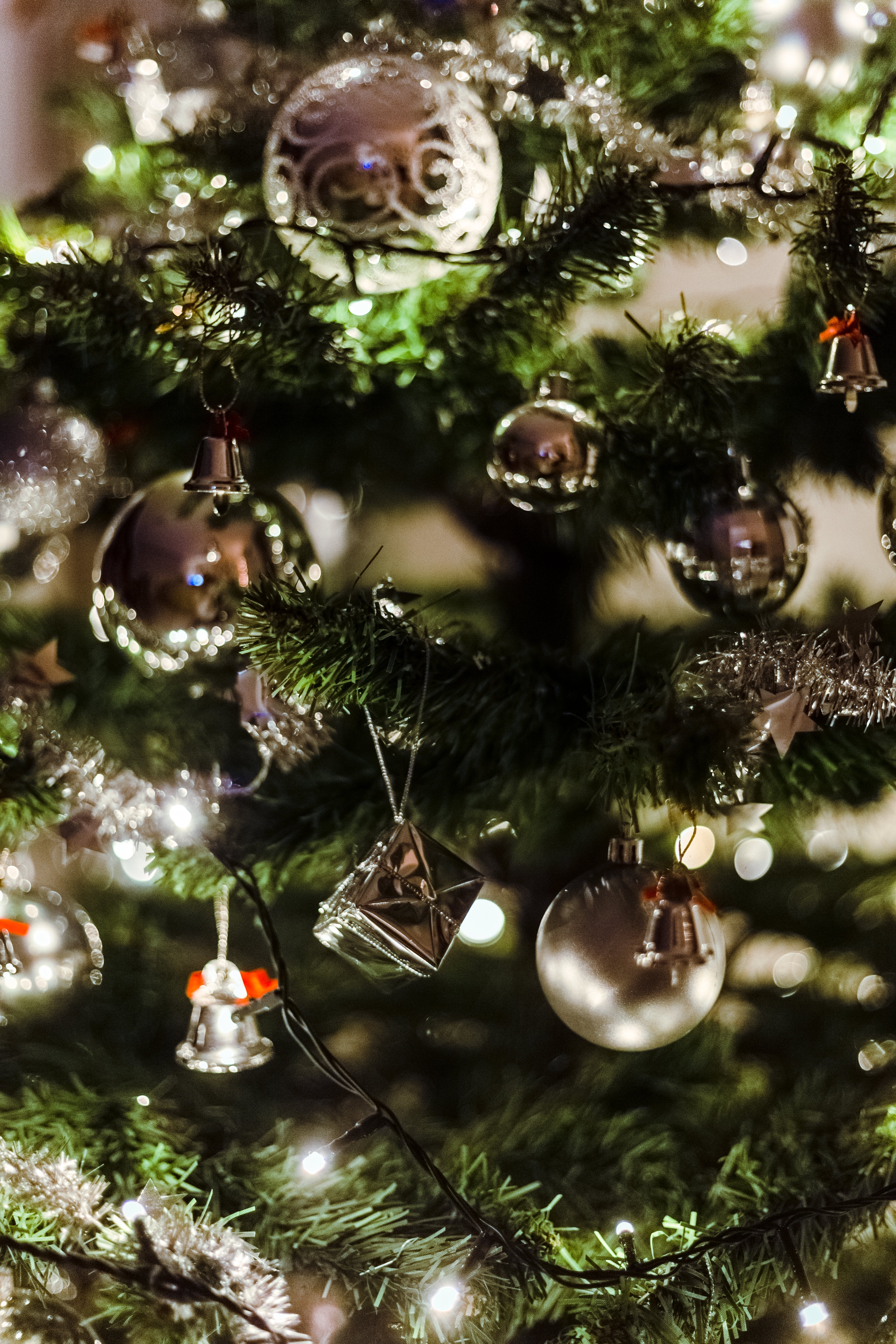 Close Up Photography of Christmas Tree and Baubles