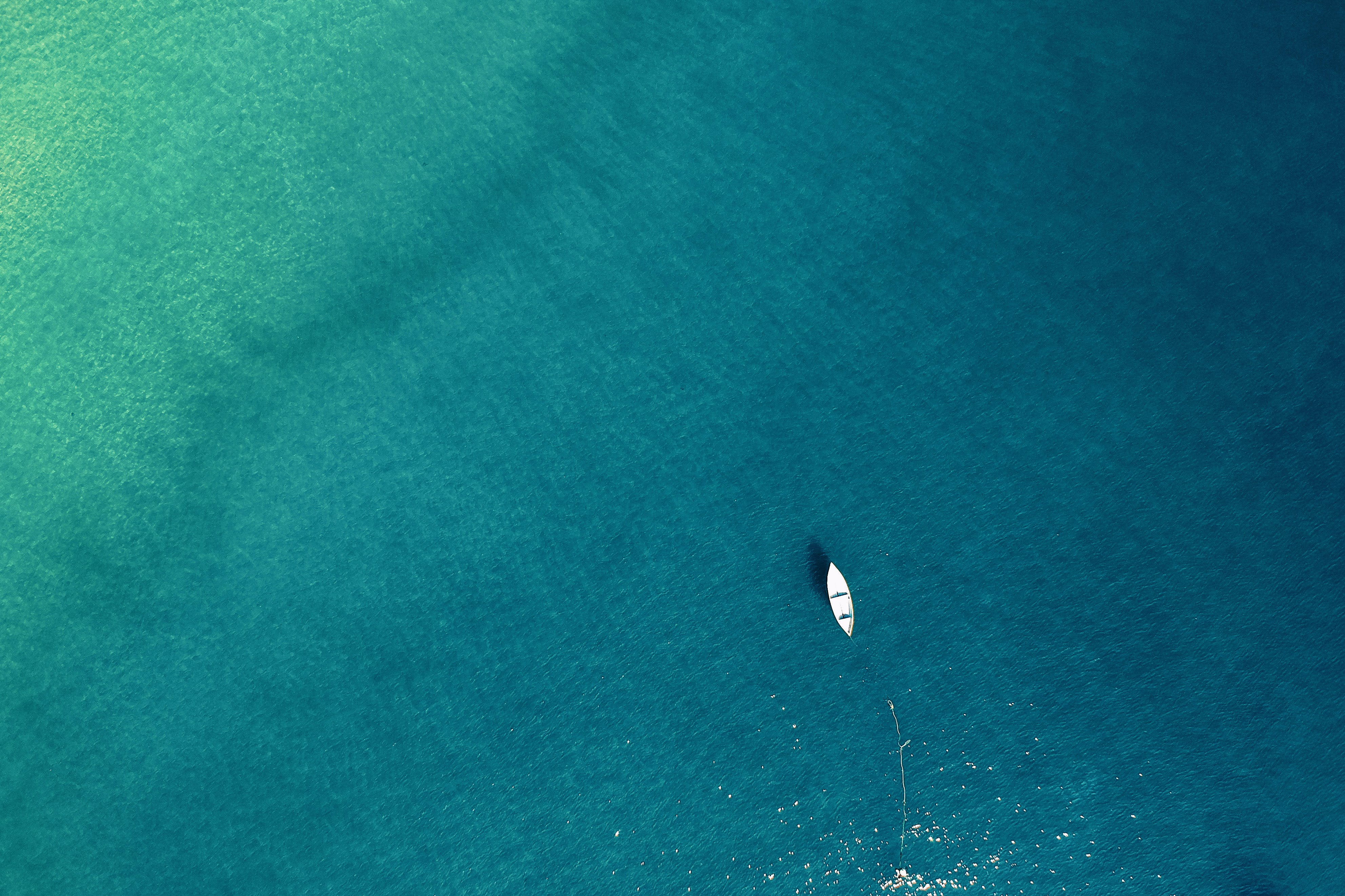 Aerial Photo of Boat on Sea