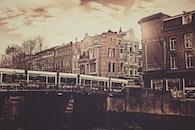 city, water, street