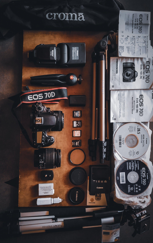 Black Canon Eos 70d and Tripod