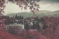 city, landscape, red