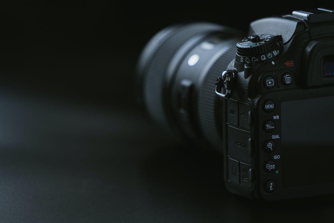 Camera On Black Surface