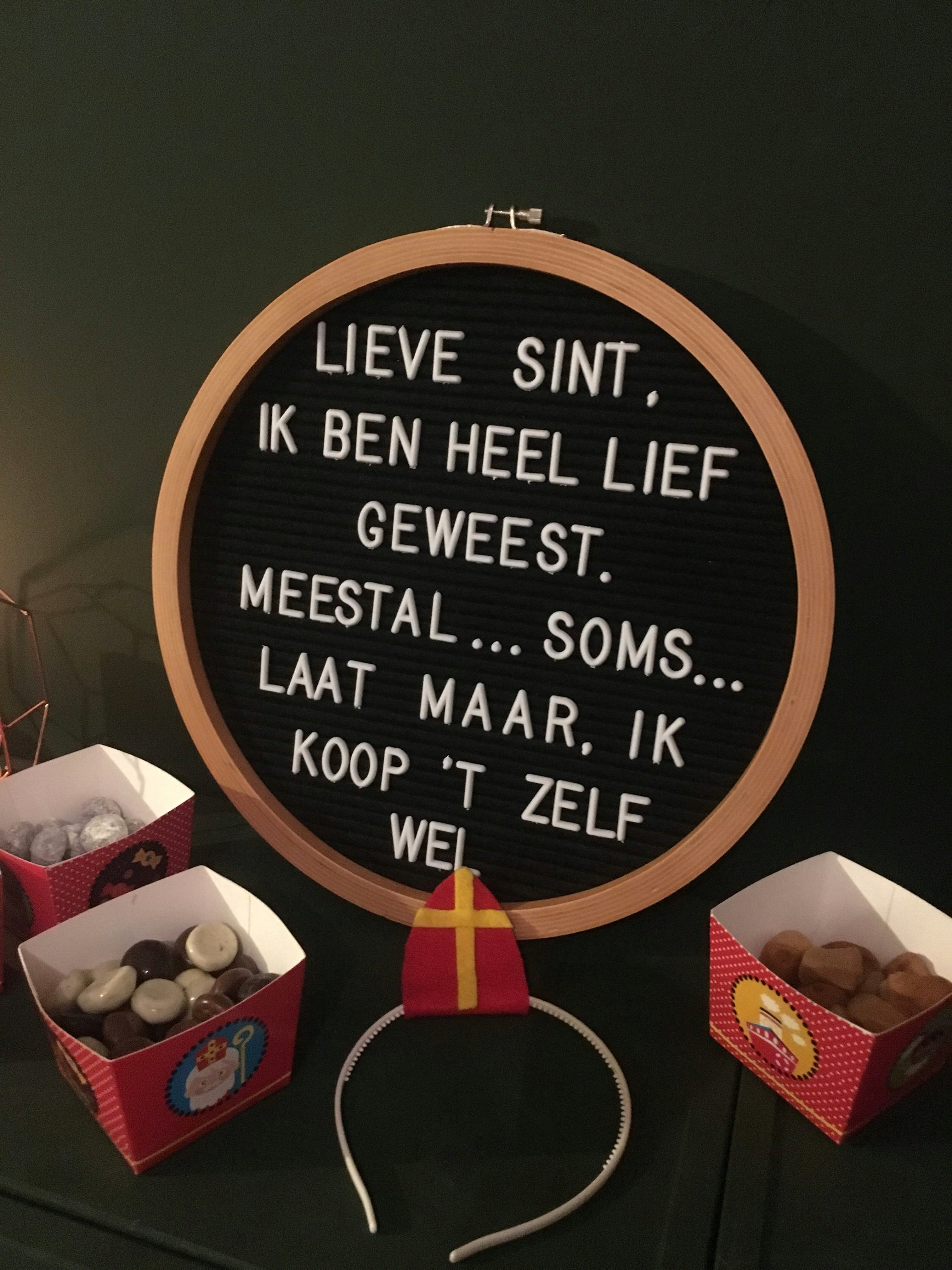Lieve Sint, Ik Ben Heel Lief Text