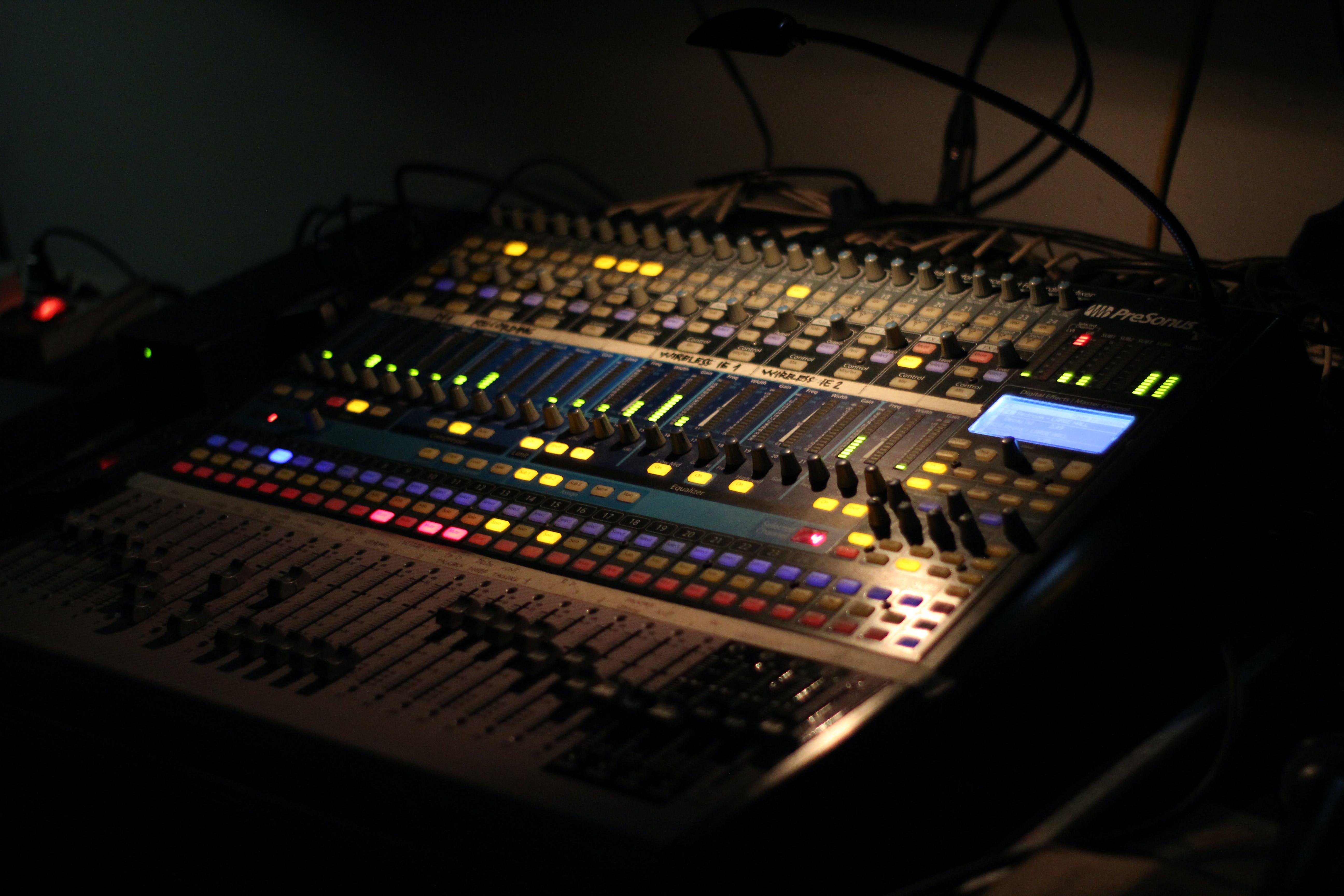 Free stock photo of audio mixer, music, sound mixer