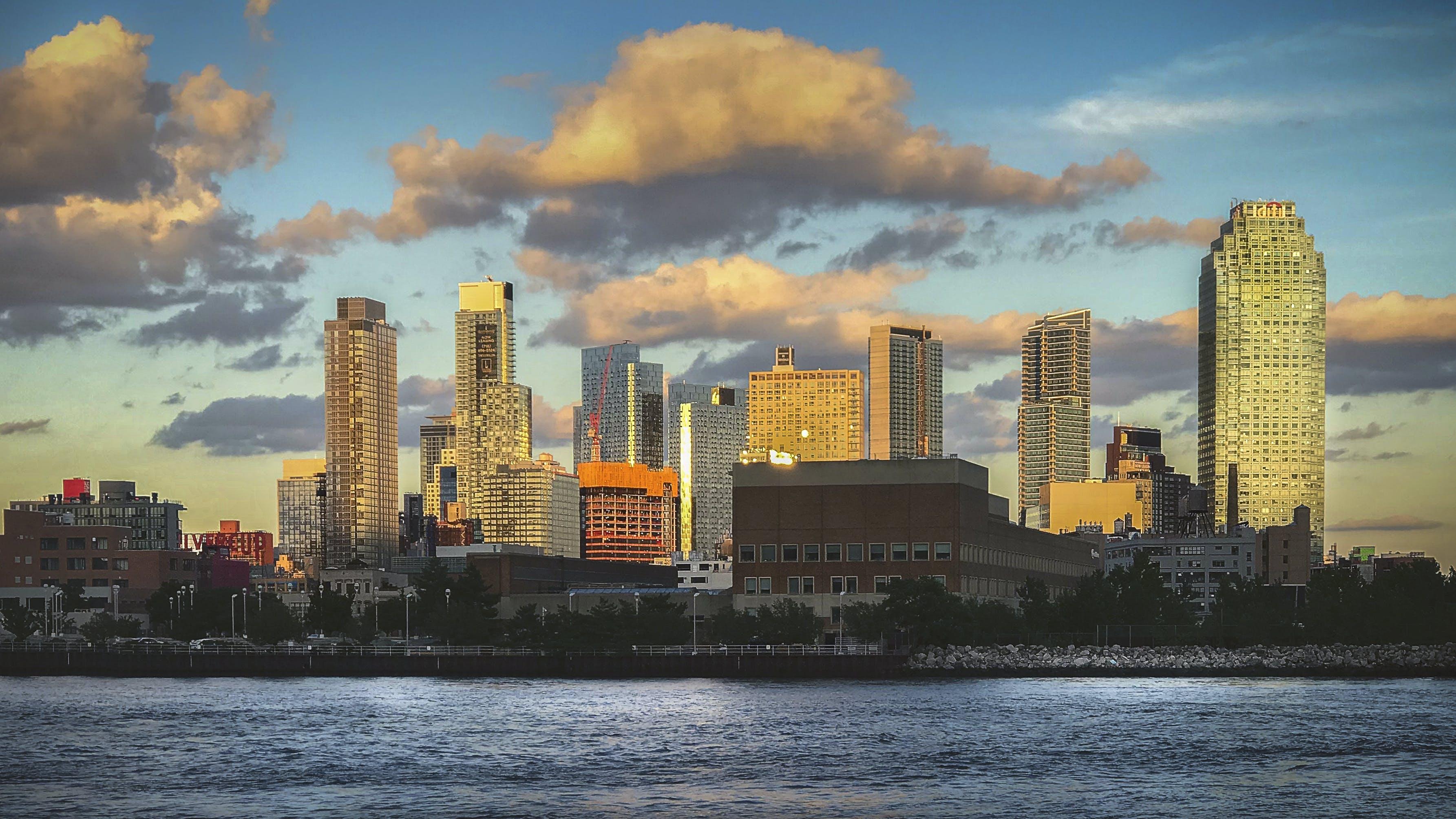 シティービュー, スカイライン, ニューヨーク市, 河岸の無料の写真素材