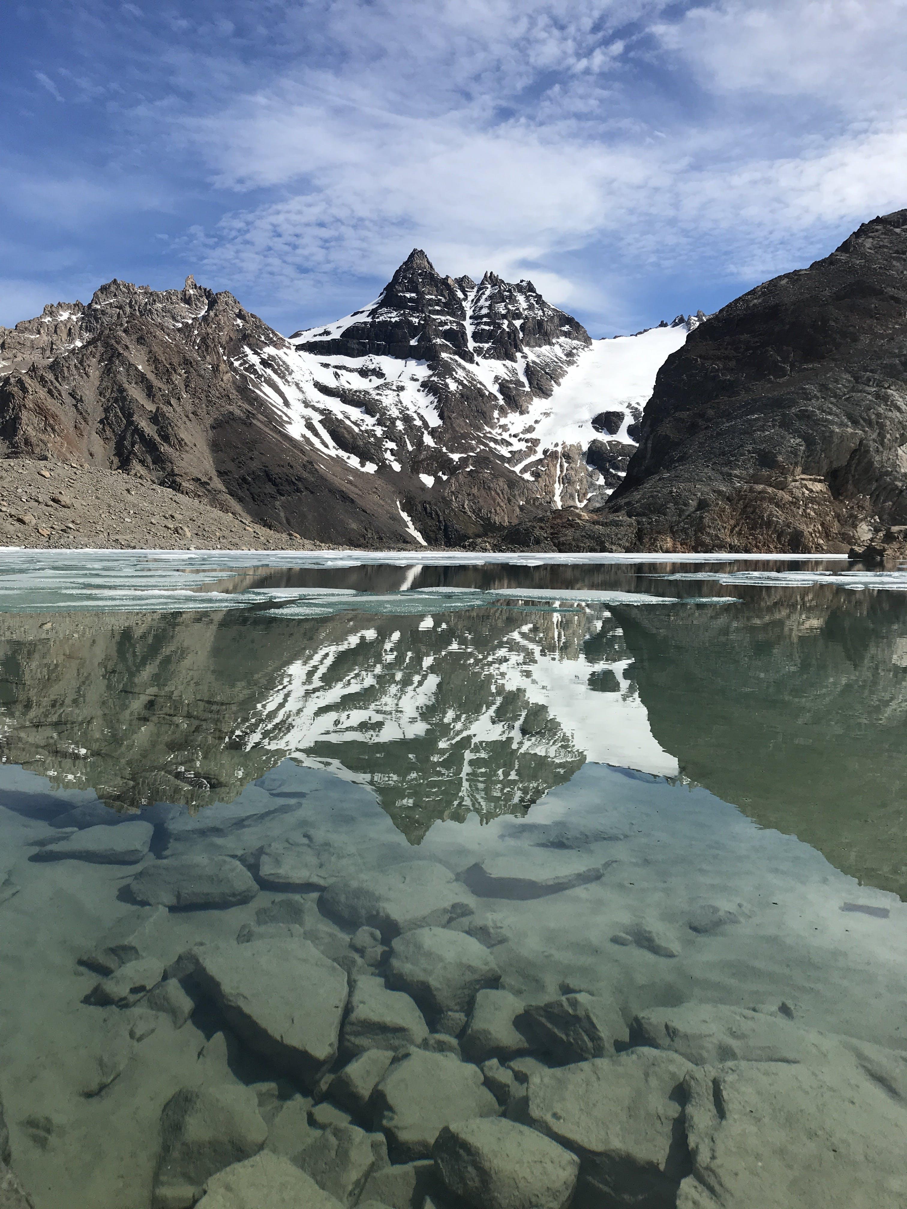Kostenloses Stock Foto zu eis, montain, schnee, spiegelung