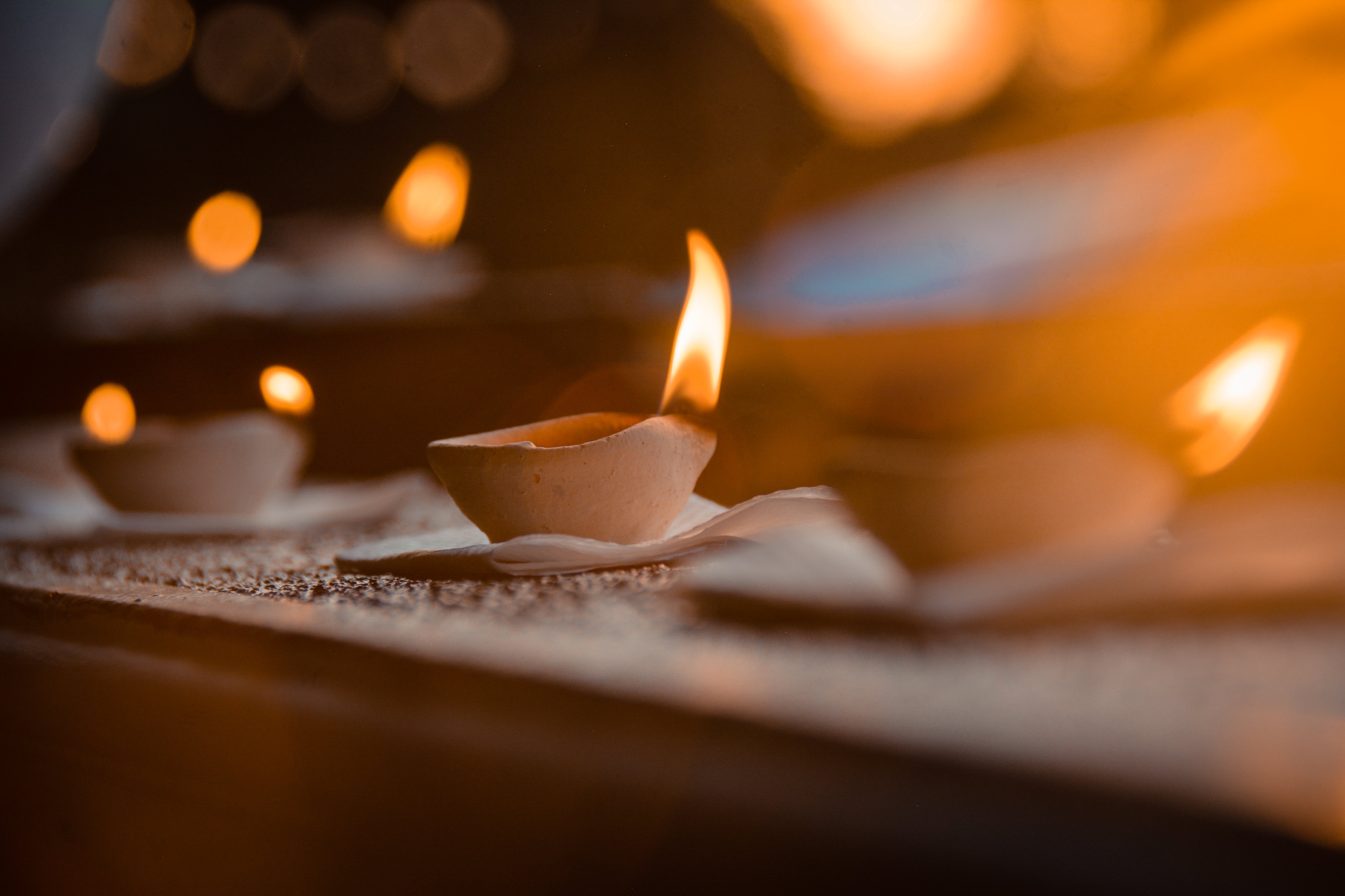 Selective Focus Photography of Lighted Candles