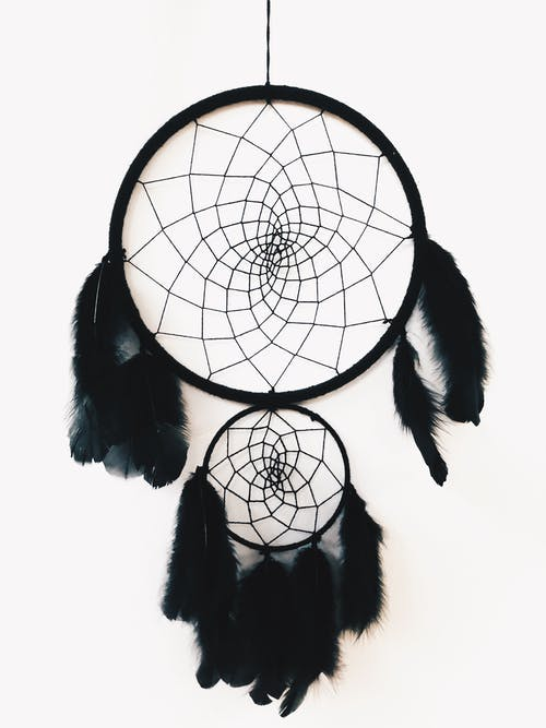 Hanging Black Dreamcatcher