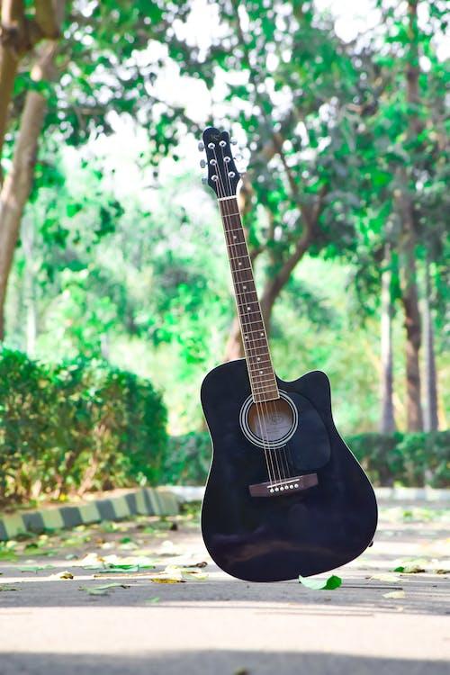 gitarr, musikinstrument, stränginstrument