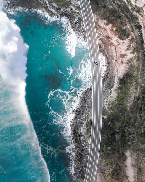 Δωρεάν στοκ φωτογραφιών με drone, drone, ακτή, από πάνω