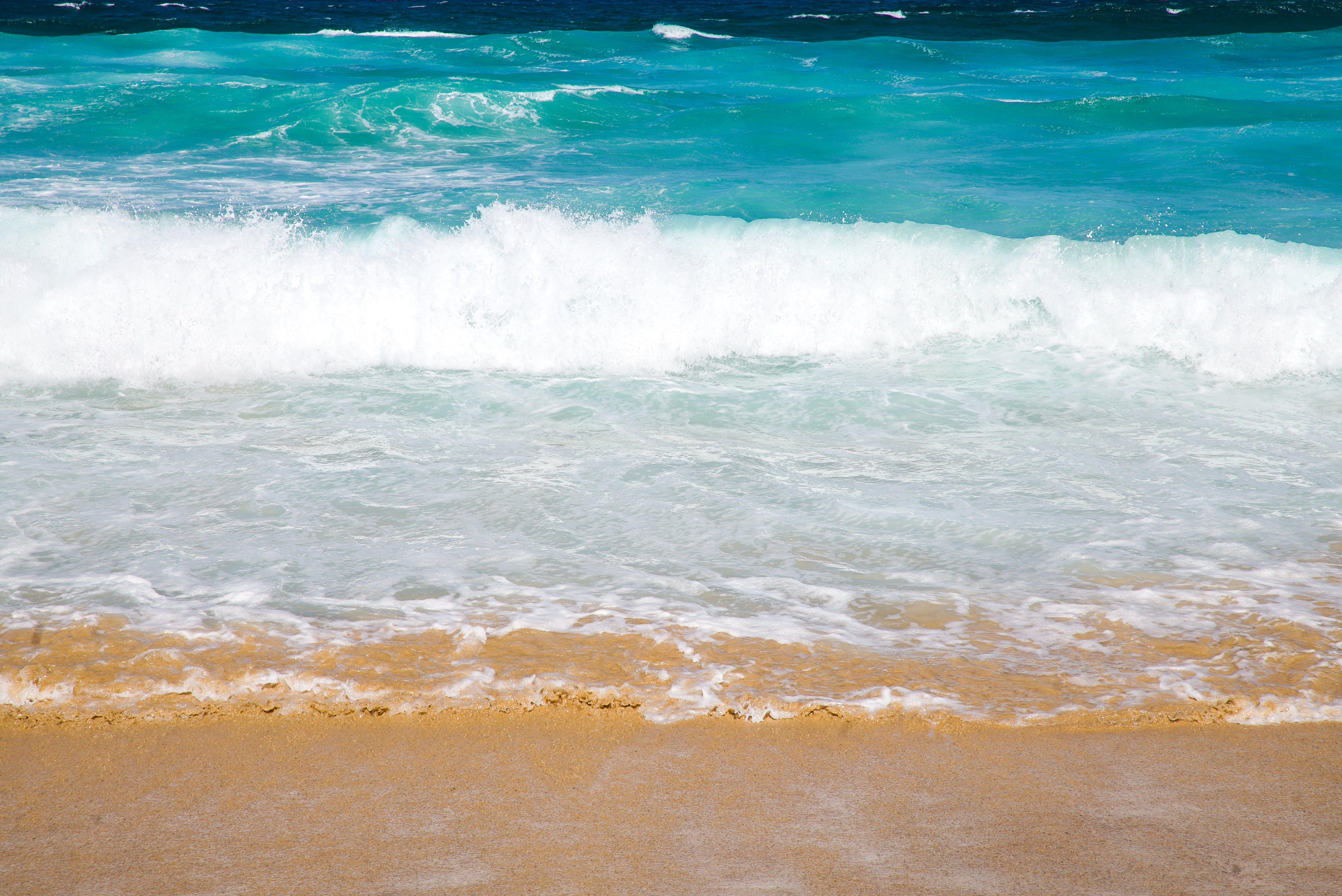 Seashore and Green Sea Water