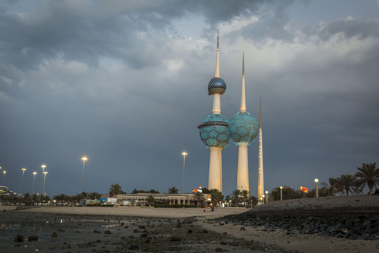 Kostenloses Stock Foto zu kuwait, kuwait-turm, sonnenuntergang, wolke