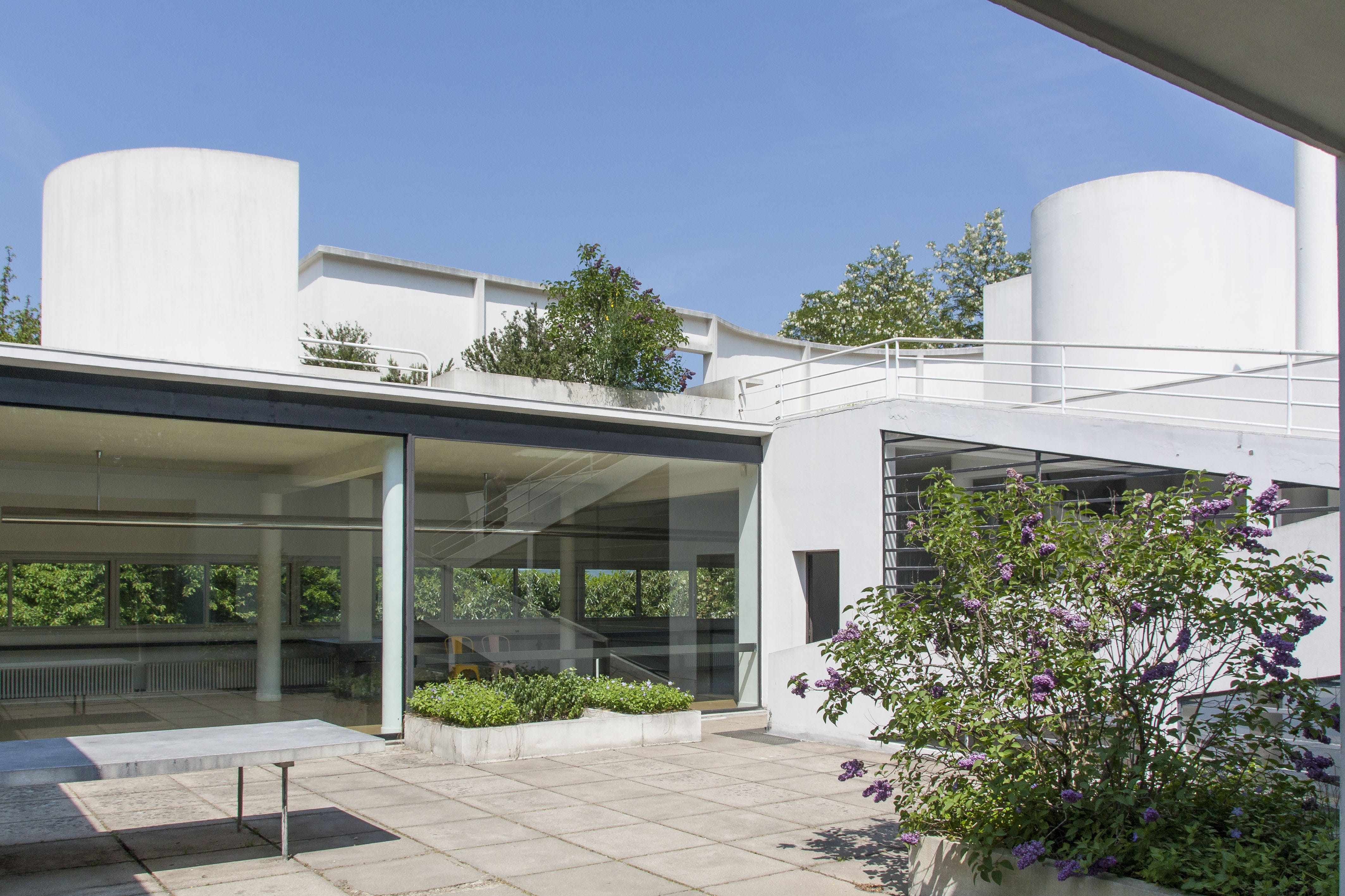 Free stock photo of courtyard, family house, LeCorbusier, modern architecture
