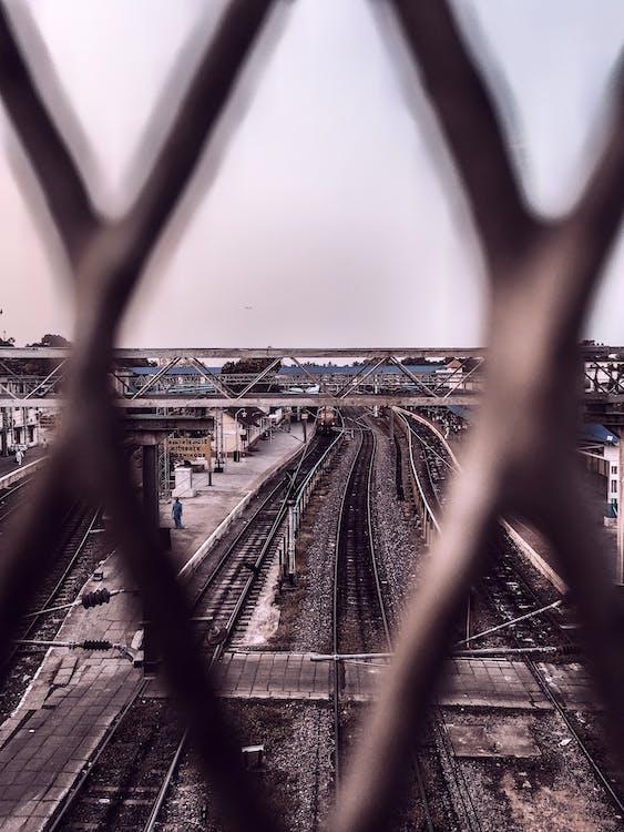 городской, дневной свет, железная дорога