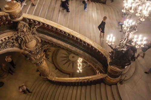 คลังภาพถ่ายฟรี ของ barroque, opera garnier, บันได, ปารีส
