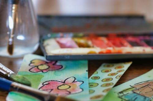 Selective Focus Photography of Pink Painted Paper