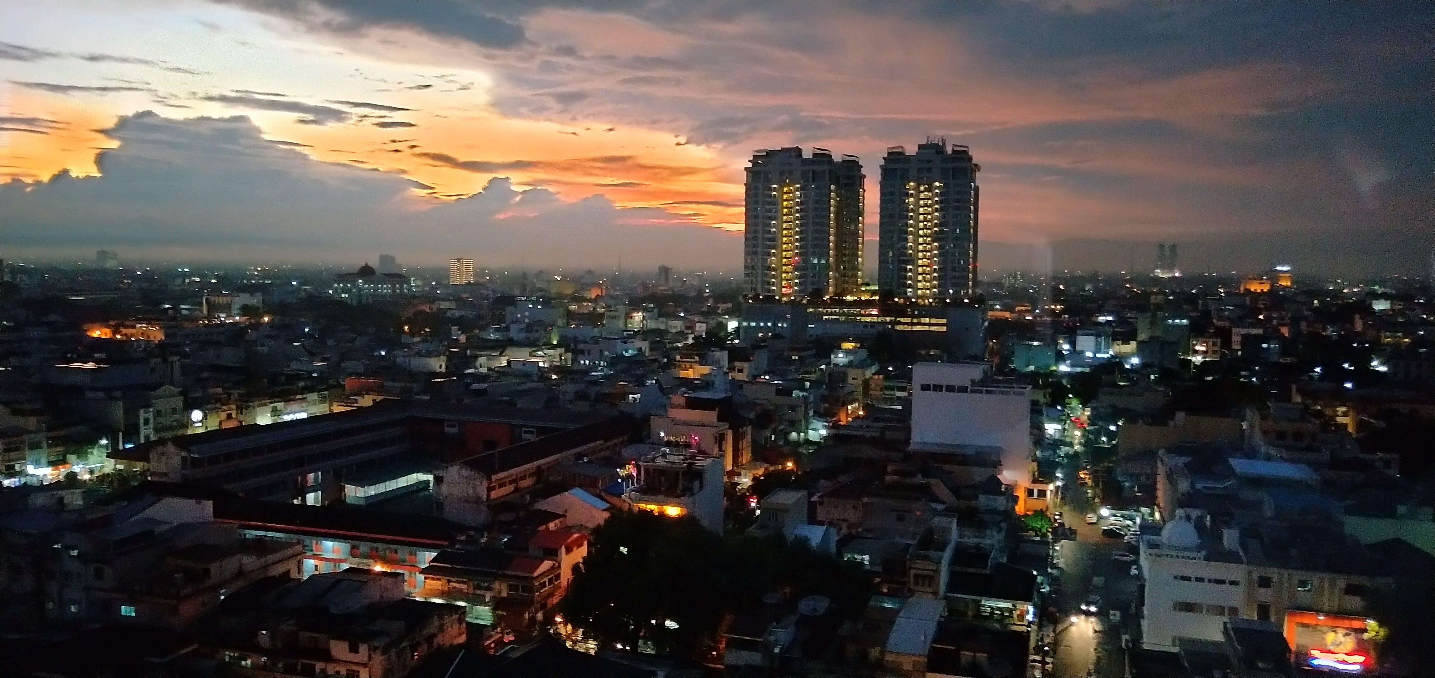 Free stock photo of Evening view of Medan