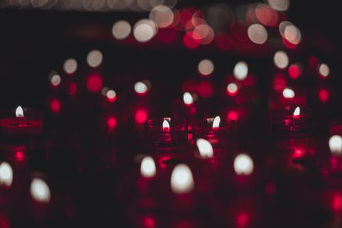 Close-Up Photo of Red Candles