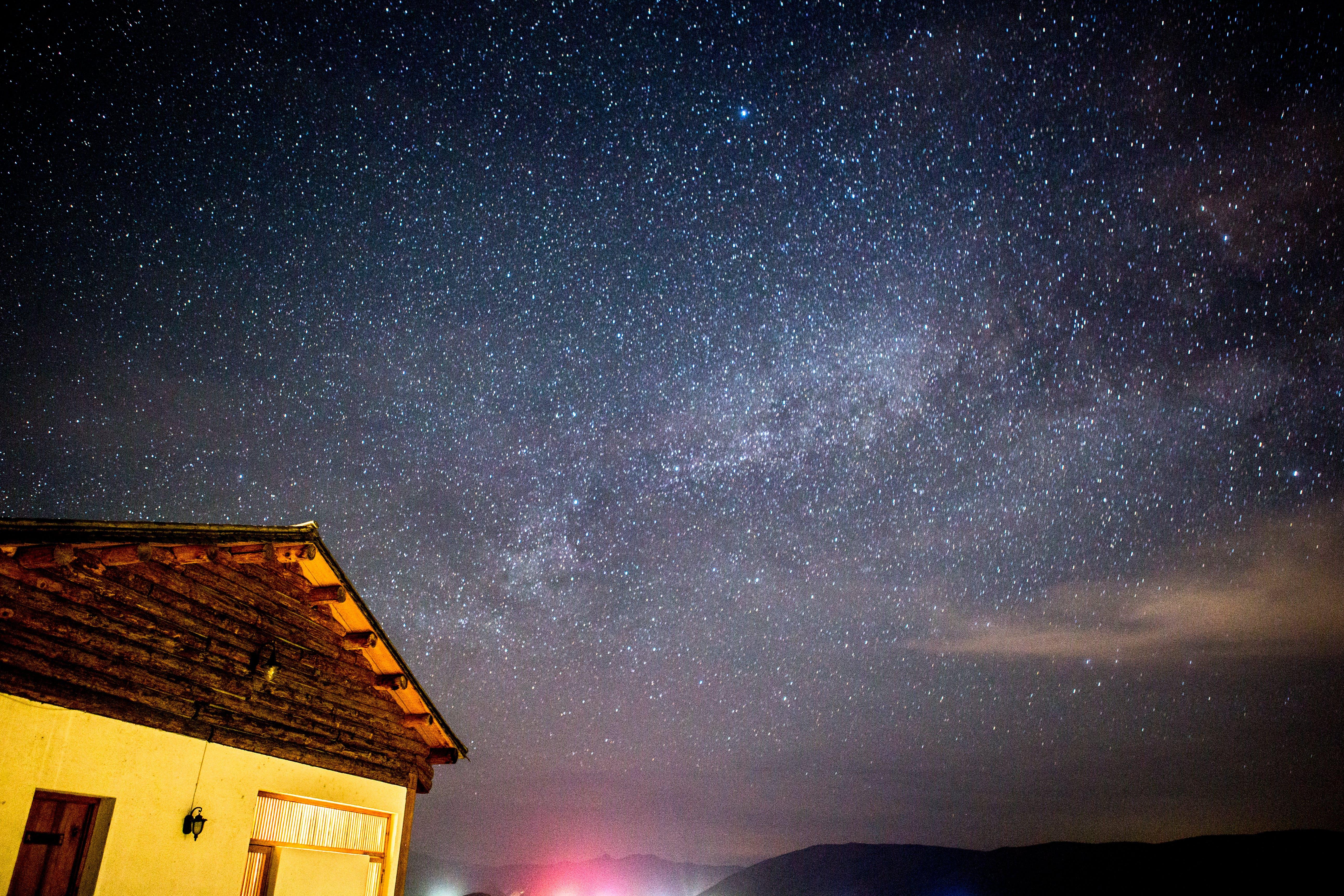 Free stock photo of countryside, night, sky, stars