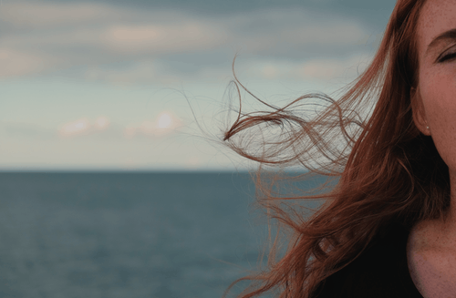 Free stock photo of freckles, hair, ocean, redhead