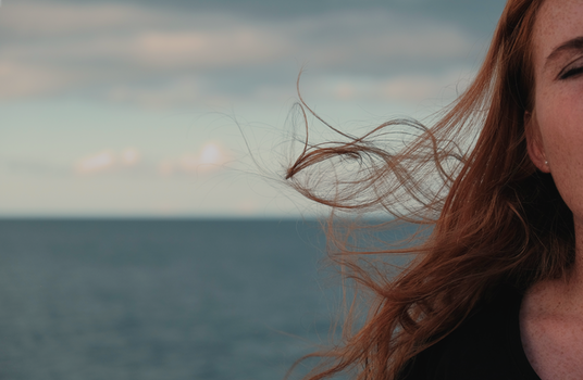 Free stock photo of sky, ocean, hair, redhead