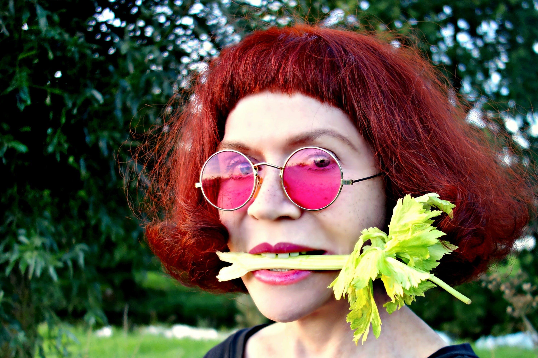 Free stock photo of caucasian, celery, close up, face