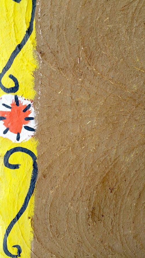 Free stock photo of brown, handpaint, mud, orange