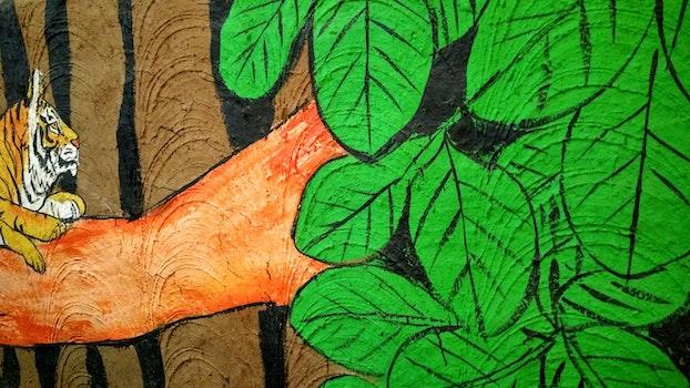 Free stock photo of animal, painting, leaves, tree