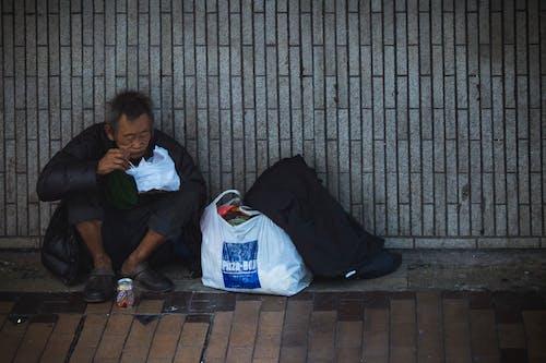가난한, 가방, 거리, 굶주림의 무료 스톡 사진